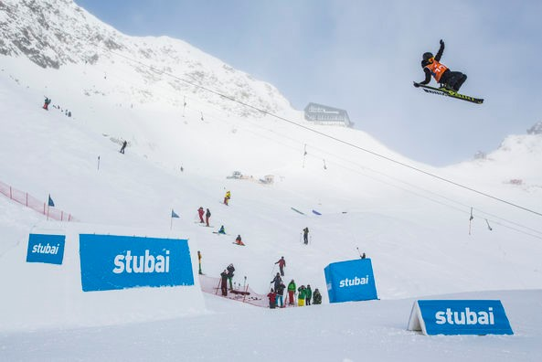Jennie Lee Burmansson was the best lady at the FIS Freeski Worldcup on the Stubai Glacier. ©Flo Breitenberger