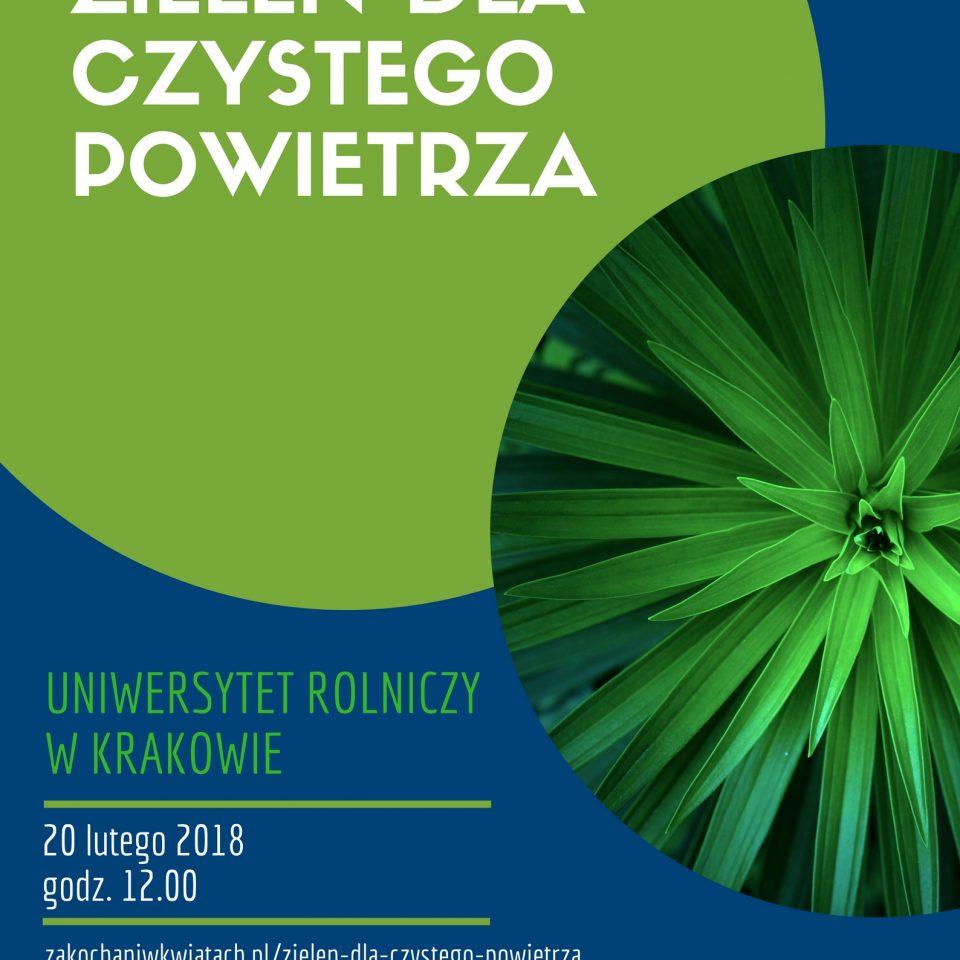 Zieleń dla czystego powietrza, plakat konferencji